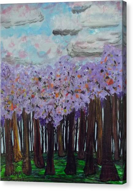 Sweet Trees Canvas Print by Megan Ford-Miller