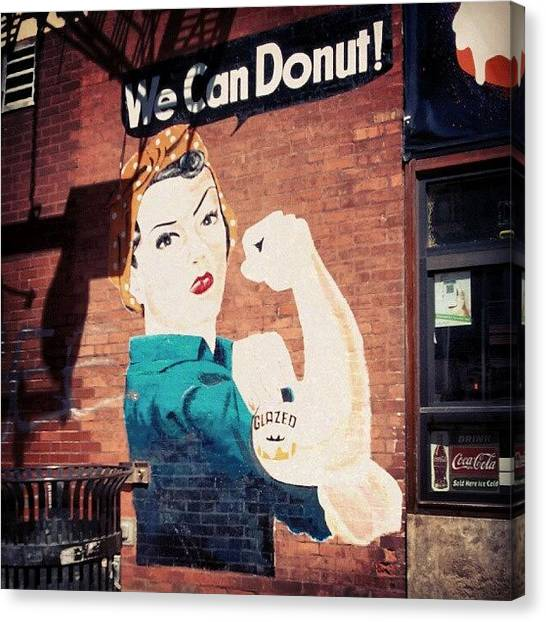 Doughnuts Canvas Print - Sweet Wall Painting (quite Literally)! by Crystal LaTessa