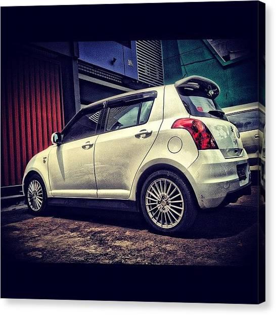 Suzuki Canvas Print - Swift #suzuki #car #iphone4s #instagram by Venda Aryadi