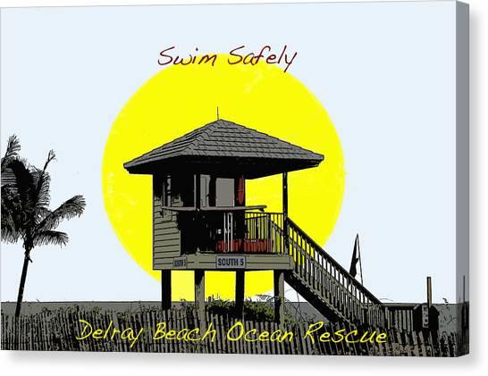 Swim Safely Canvas Print