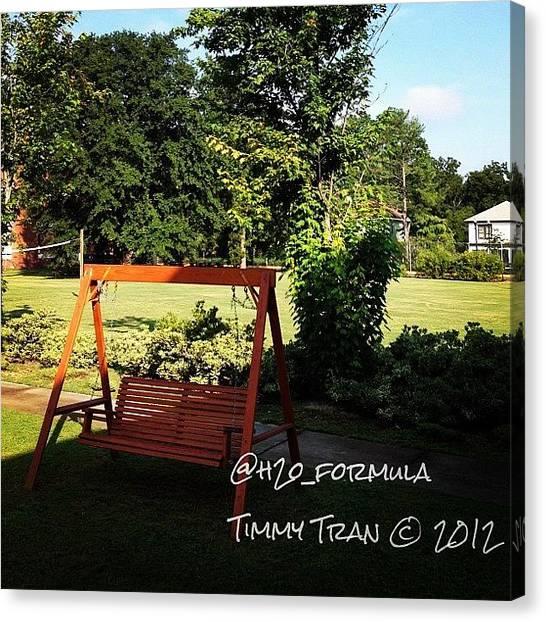 Swing Canvas Print - #swing #outside #nature #beautiful by Timmy Tran
