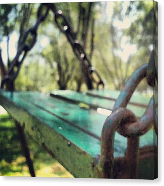 Swing Canvas Print - Swing... #swing #park #street #grass by Jerry Tamez