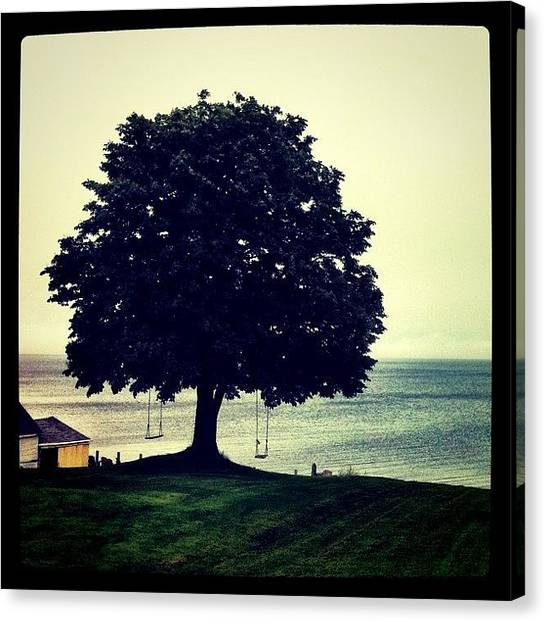 Swing Canvas Print - Swings By The Sea by Luke Kingma