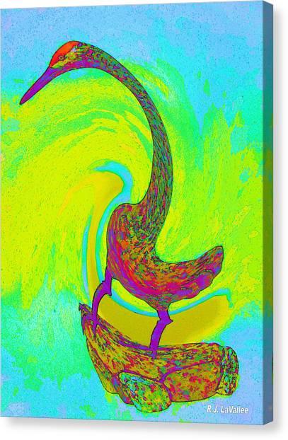 Swirl Crane Canvas Print