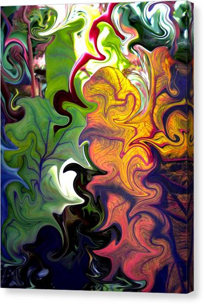Swirled Leaves Canvas Print