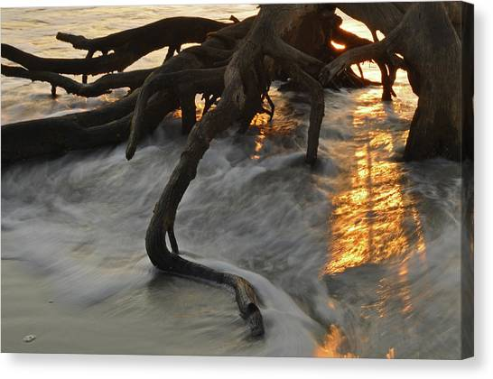 Swirling Sunrise On Jekyll Island Canvas Print