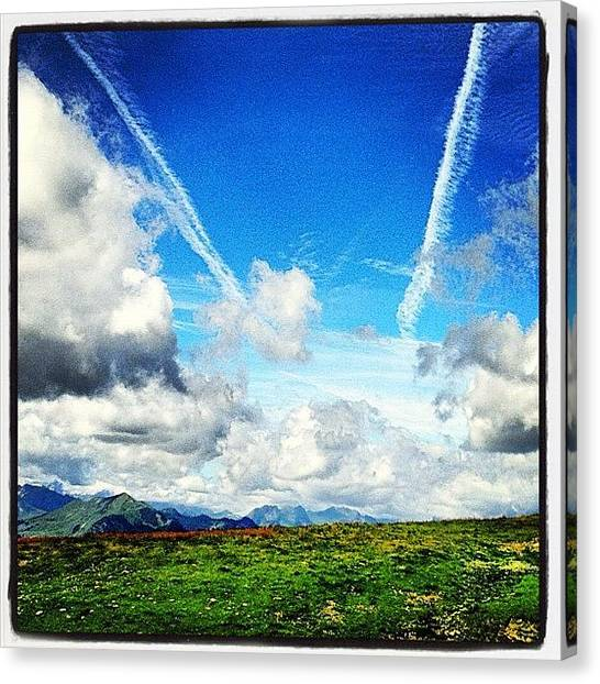 Swiss Canvas Print - #swiss #mountain View! by Christoph Flueckiger