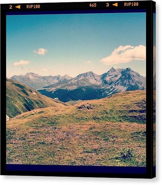 Swiss Canvas Print - #swiss #switzerland #alps #mountains by Yiddy W