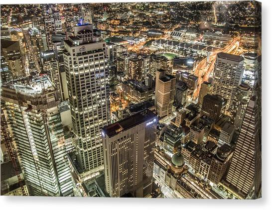 Sydney At Night Canvas Print by Andy Nguy