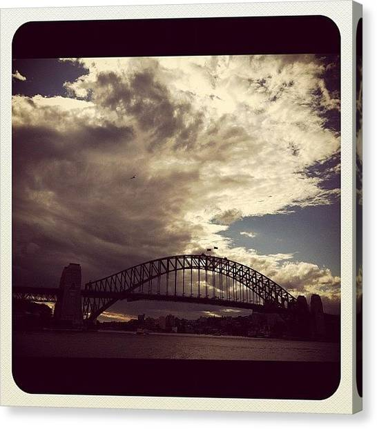 Helicopters Canvas Print - Sydney Harbour Bridge by Kay Mac