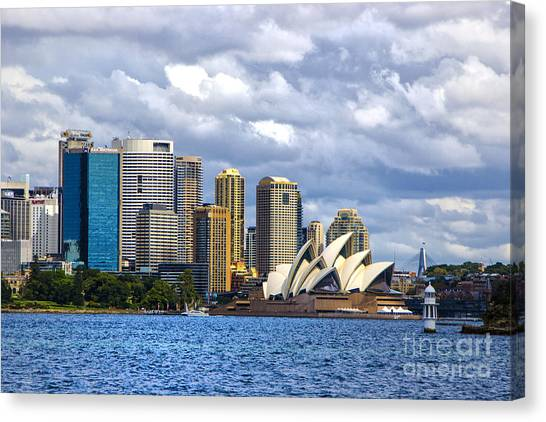 Sydney Harbour One Canvas Print by Rick Bragan