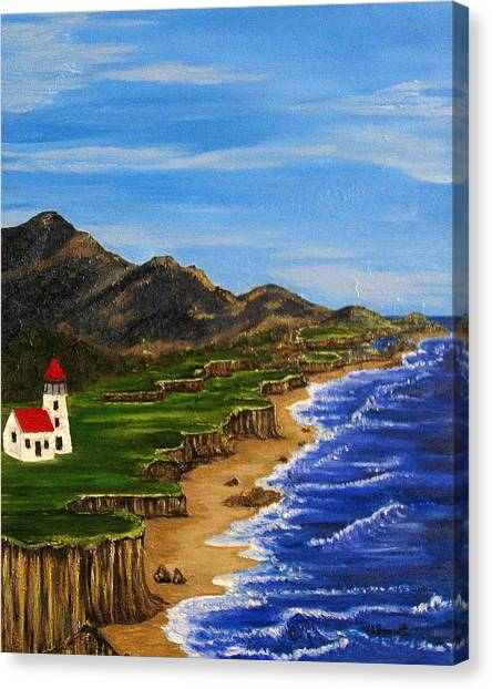 Sylvia's Seascape Canvas Print