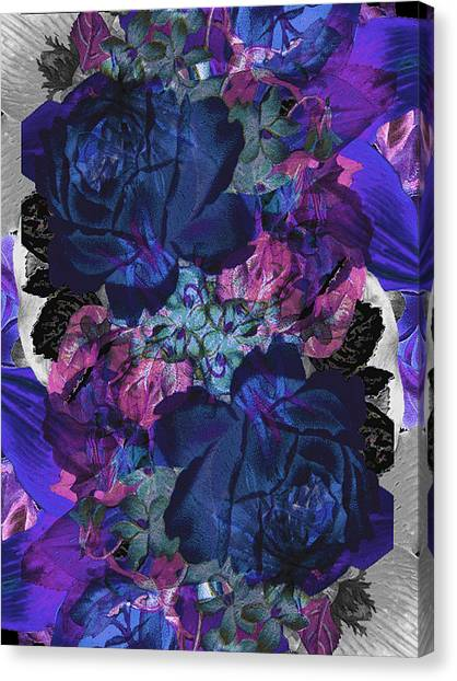 Symetry Rose Garden Canvas Print by Carly Ralph