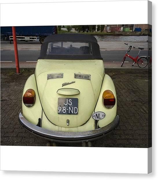 Volkswagen Canvas Print - Symmetry #vw #volkswagen #vintage by Andy Kleinmoedig