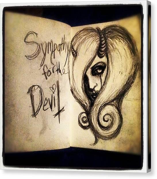 Satan Canvas Print - Sympathy For The Devil by Shayne  Bohner