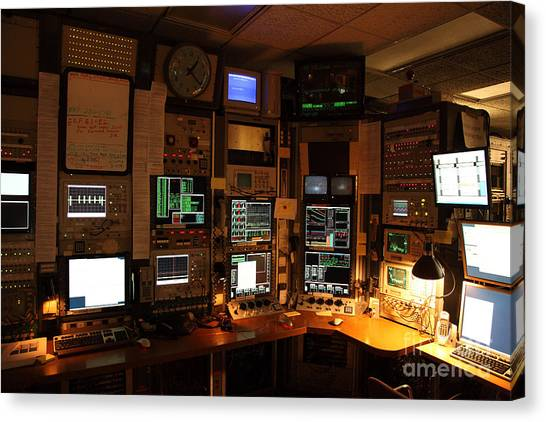Cornell University Canvas Print - Synchrotron Control Room by Ted Kinsman