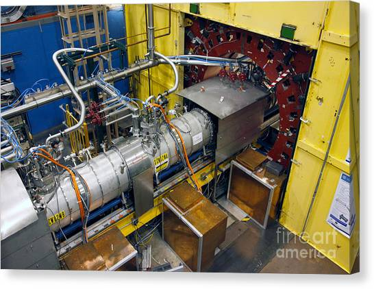 Cornell University Canvas Print - Synchrotron Electron Beam Line by Ted Kinsman