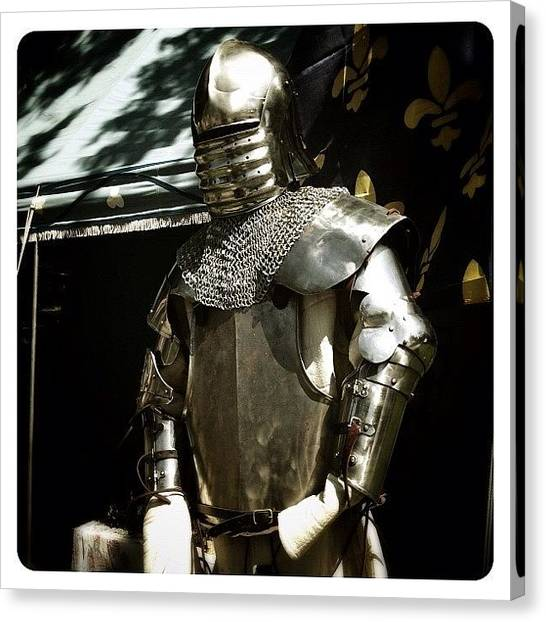 Knights Canvas Print - Syttende Mai Suit Of Armor by Natasha Marco