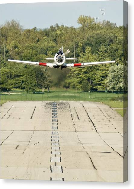 T-6 Take Off  Canvas Print