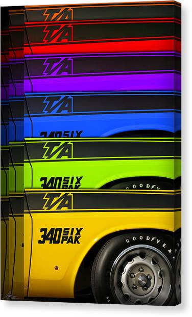 Rainbow Six Canvas Print - T/a 340 Six Pak by Gordon Dean II