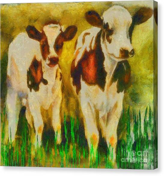 T Bone And Ribeye Canvas Print by Elizabeth Coats