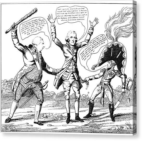 Impartial Canvas Print - T. Jefferson Cartoon, 1809 by Granger
