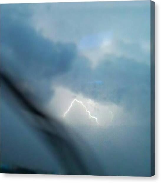 Lightning Canvas Print - T-storm, Coming Thru by Chuck Caldwell