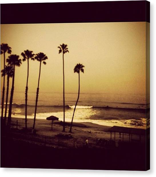 Beach Sunrises Canvas Print - T Street by Rich Everson