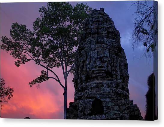 Ta Phrom Canvas Print by Dominic Guiver