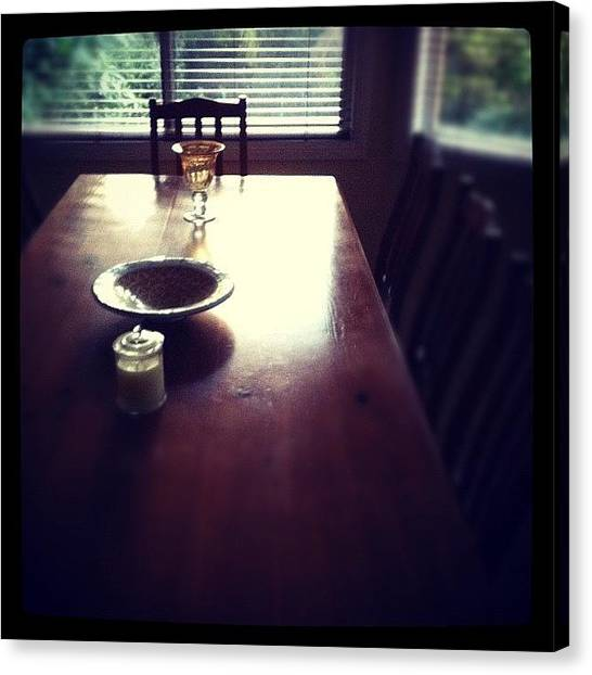 Tables Canvas Print - #table #morning #window #dining by Glen Offereins