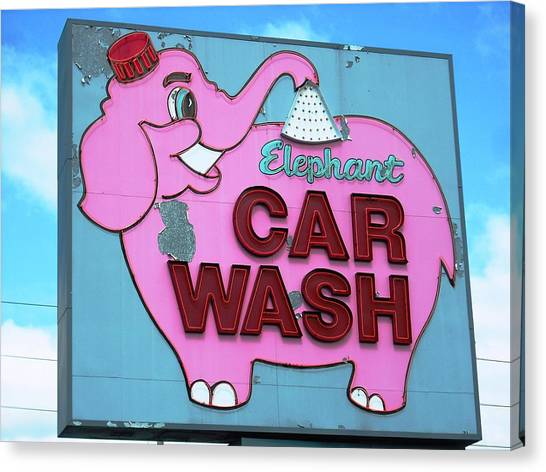 Tacoma Elephant Car Wash  Canvas Print