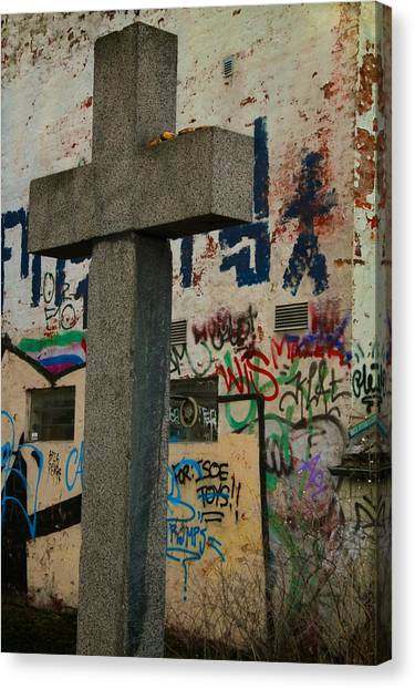 Graffiti Walls Canvas Print - Tagged by Odd Jeppesen