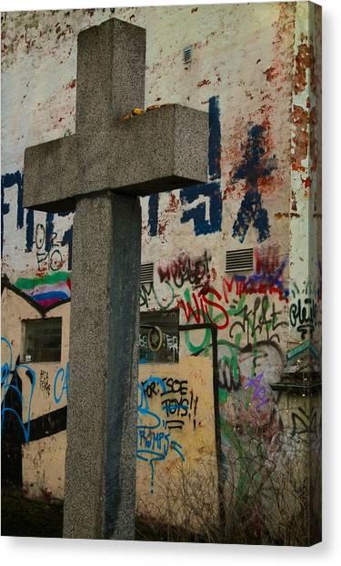 Graffiti Walls Canvas Print - Tagged by Odd Jeppesen