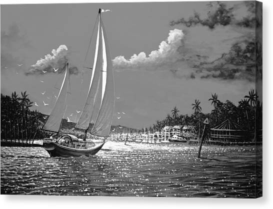 Tahitian Moon Canvas Print by Joseph   Ruff