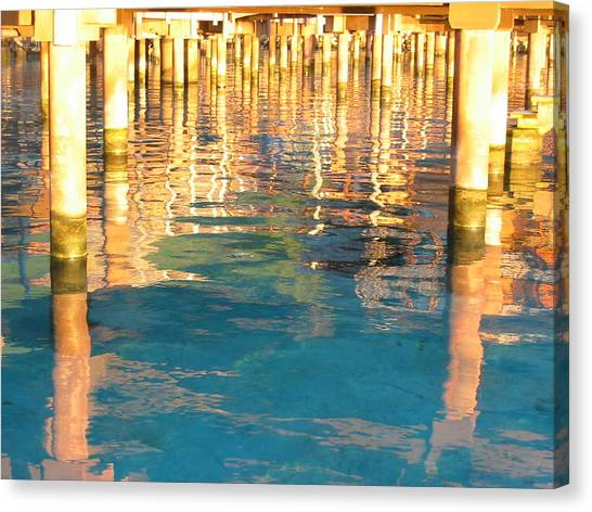 Tahitian Reflection Canvas Print by Mark Norman