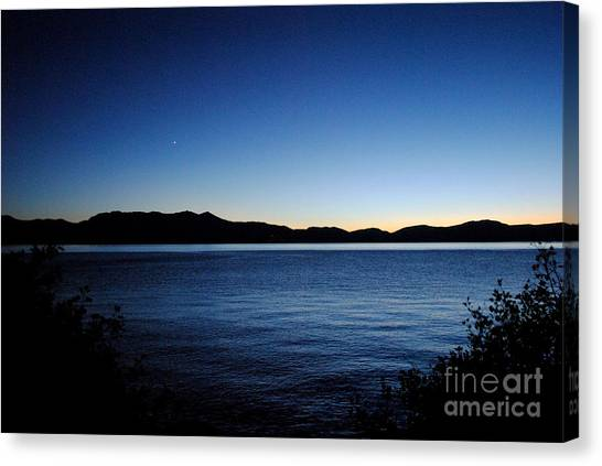 Tahoe Sunset  Canvas Print by Sean McGuire