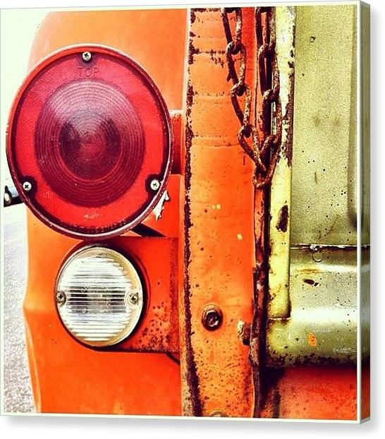 Trucks Canvas Print - Tail Light  by Julie Gebhardt