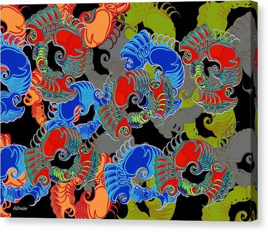 Tainted Shrimp Canvas Print