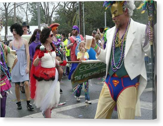 Take Me To The Mardi Gras Canvas Print by Rdr Creative