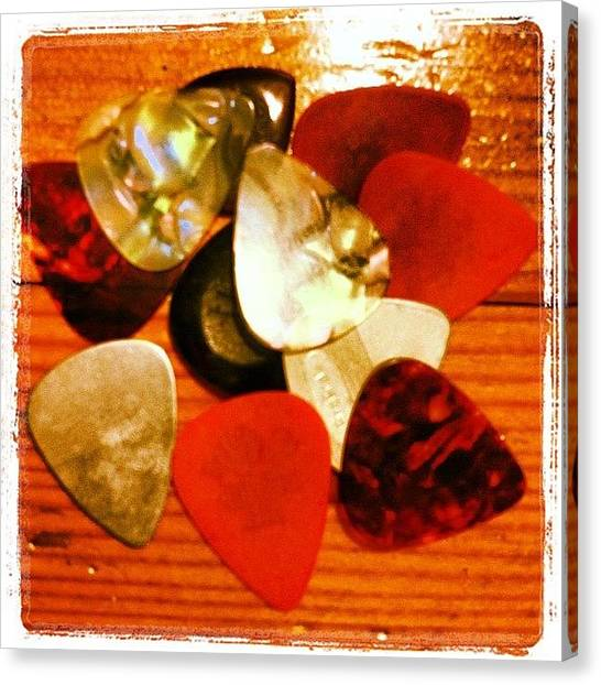 Guitar Picks Canvas Print - Take Your Pick by Ken Powers