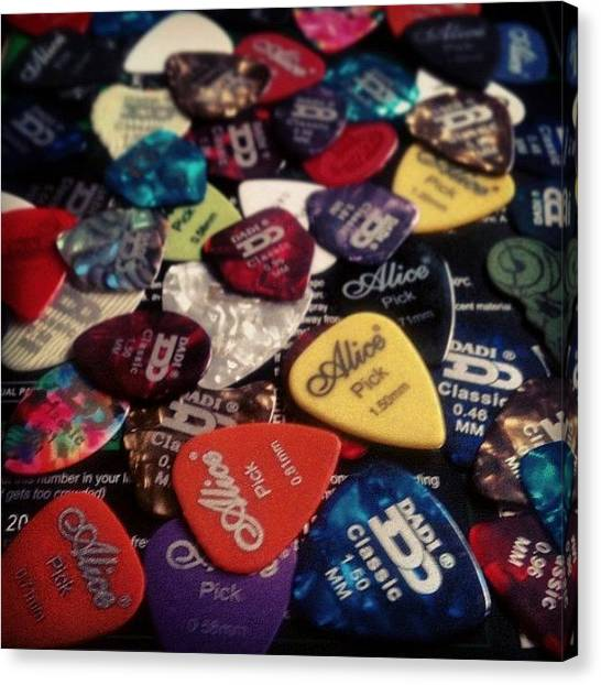 Guitar Picks Canvas Print - Take Your..... Pick :p #christmas by Nick Cooper