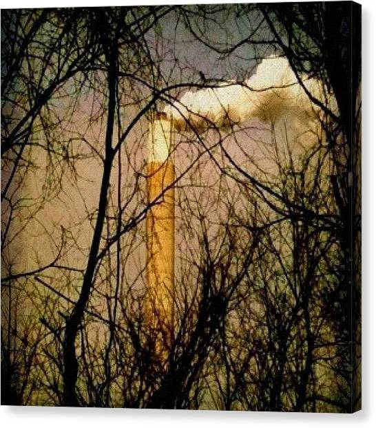 Factories Canvas Print - taken From Wv, Looking Across The by Carrie Mroczkowski