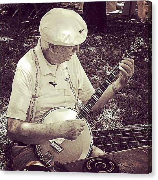 Banjos Canvas Print - Taken Last Sunday #banjo #jazzfest by Lauderdale Ashley
