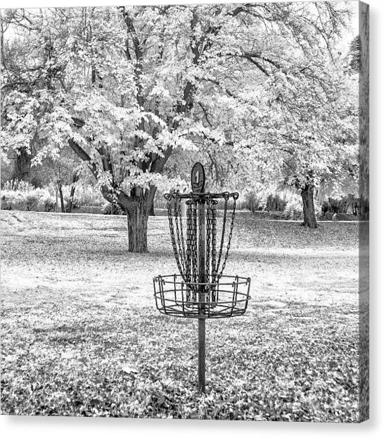 Disc Golf Canvas Print - Taken With A Converted Canon 20d For by Michael Amos