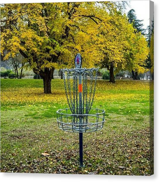 Disc Golf Canvas Print - Taken With A Nikon D5100 #disc #golf by Michael Amos