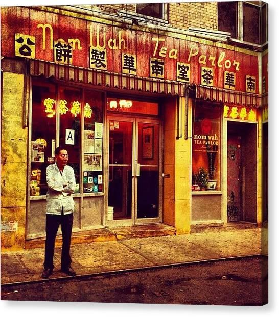 Asian Canvas Print - Taking A Break In Chinatown by Luke Kingma