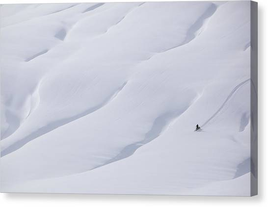 Teton National Forest Canvas Print - Taking A Ride On A Winter Afternoon by Drew Rush