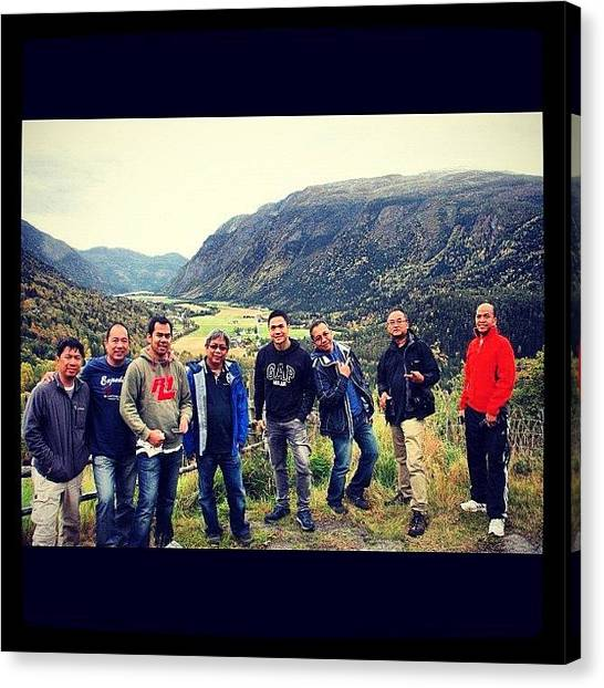 Preikestolen Canvas Print - Taking Some Pictures With My Friends by Kiko Bustamante