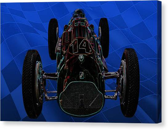 Talbot Lago T26c Body 110054 Canvas Print by Mike  Capone
