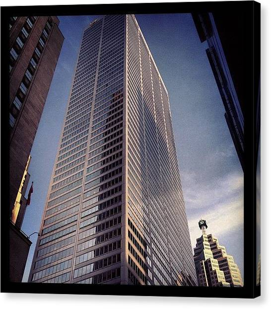Big Sky Canvas Print - #tall #big #buildings #toronto by Frank Shadrack